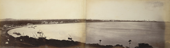 Panorama of Bombay from the Ladies' Gymkhana, Malabar Hill.
